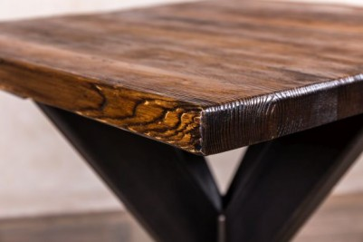 dining table with antique finish top