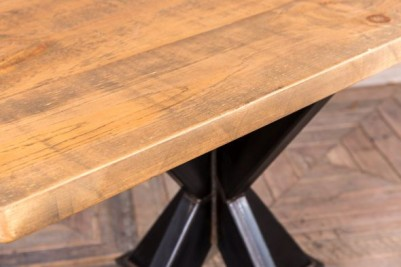 pedestal table with large pine top