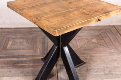 pedestal table with pine top