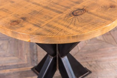 round pine top pedestal table