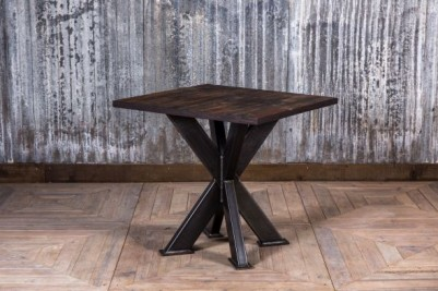 reclaimed elm and steel table