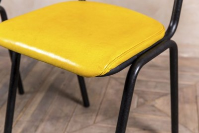 yellow leather seating