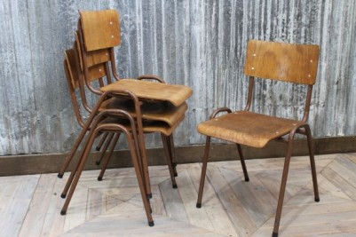vintage stackable chairs