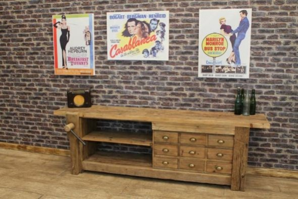 Large Rustic Sideboard with Vice