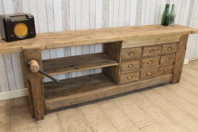 reclaimed pine sideboard with vice rustic