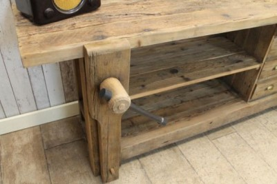 rustic pine sideboard console table