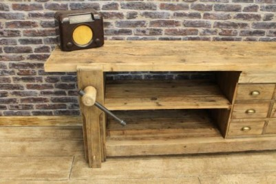 sideboard with vice reclaimed