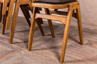 solid oak stacking chair