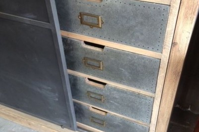 industrial style storage drawers
