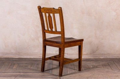 Carved chapel chair