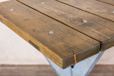 outdoor table with pine top