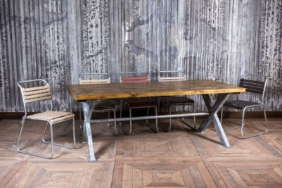 galvanised dining table