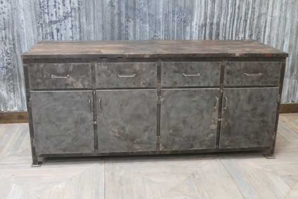 Large Metal Industrial Sideboard