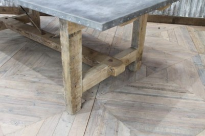 dining table with zinc top