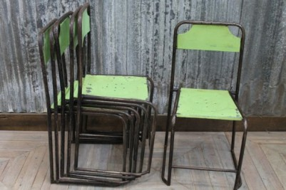 stackable vintage chairs
