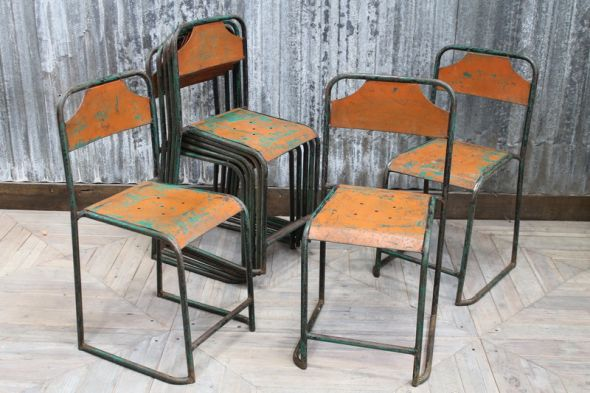 Orange Steel Garden Chairs