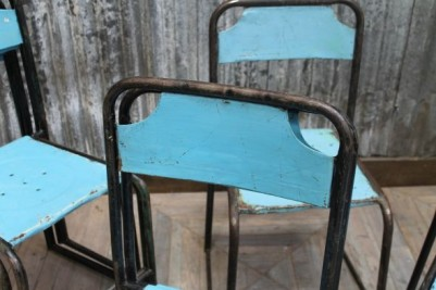 old stacking chairs
