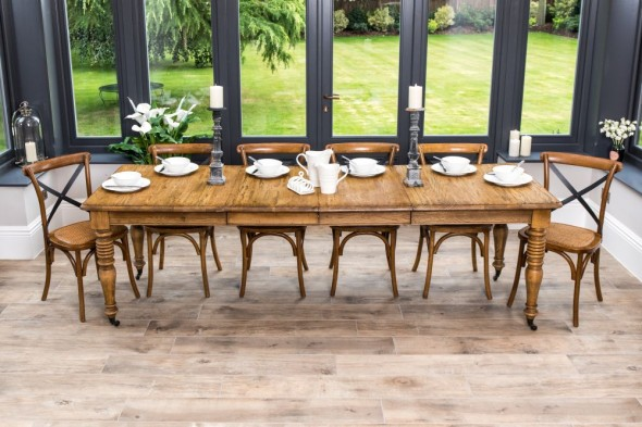 Oak Extending Farmhouse Table - 160 cm - 262cm