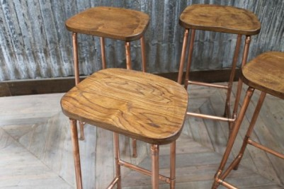 copper pipework stools