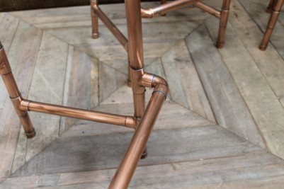 copper stools with shaped seat