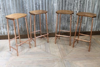 pipework based bar stools