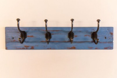 reclaimed timber distressed painted coat rack