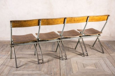 vintage industrial folding benches