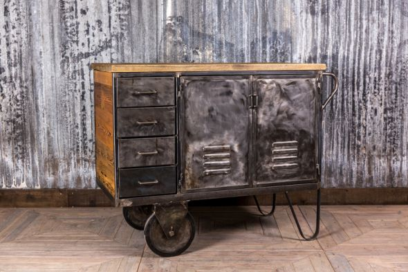Gunmetal Industrial Storage Unit