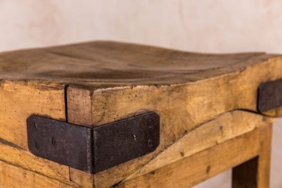 wooden chopping block table