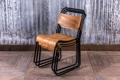 black frame stacking chairs