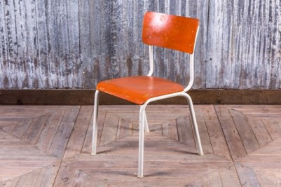 orange stacking chair