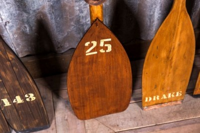 wooden vintage rowing paddles