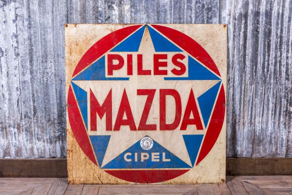 Vintage Metal Wall Sign