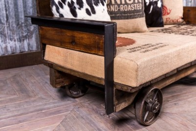 converted cart day bed