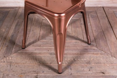 bright copper dining chair