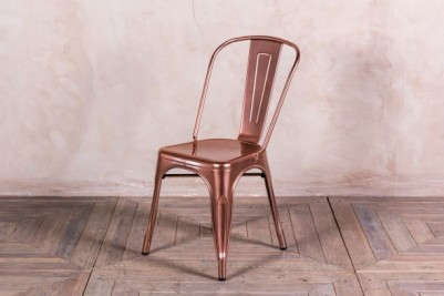 metallic dining chairs
