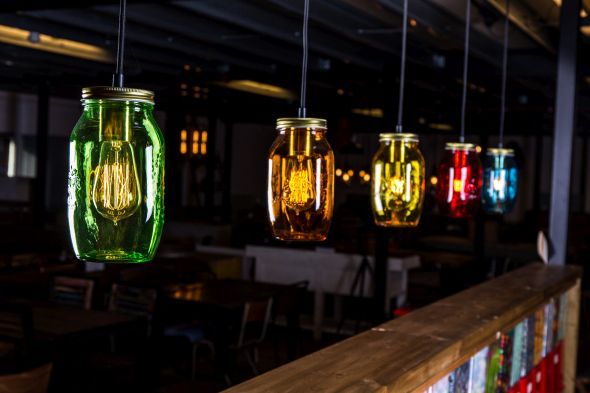 Mason Jar Light Range
