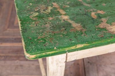 green painted table