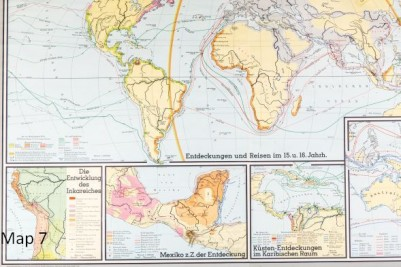 VINTAGE WORLD MAPS SCHOOL WALL MAPS | Peppermill Interiors