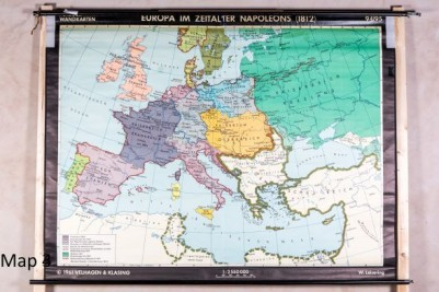 various vintage wall maps