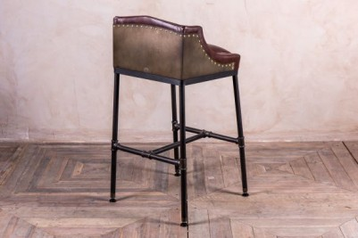 industrial style steamer bar stool