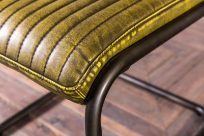 distressed yellow retro style chair