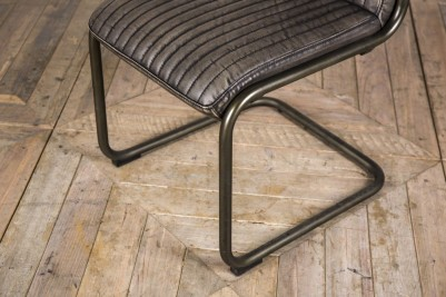 grey industrial style chair