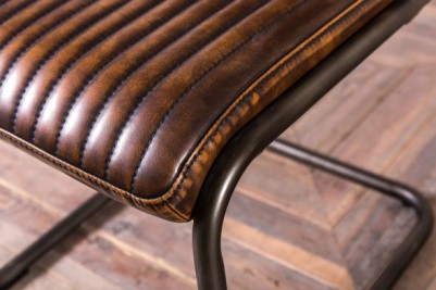 stitched vintage brown upholstery