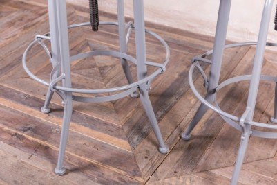 grey frame metal stools