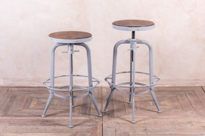grey machinist style stool