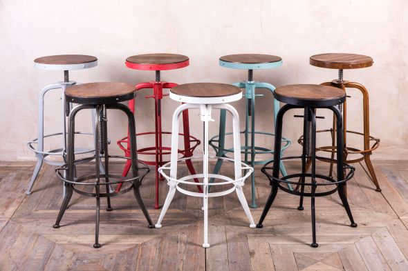 High Machinist Style Bar Stool Range