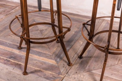 vintage copper stools