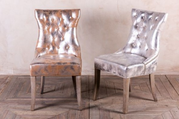 Versailles Metallic Upholstered Dining Chair Range