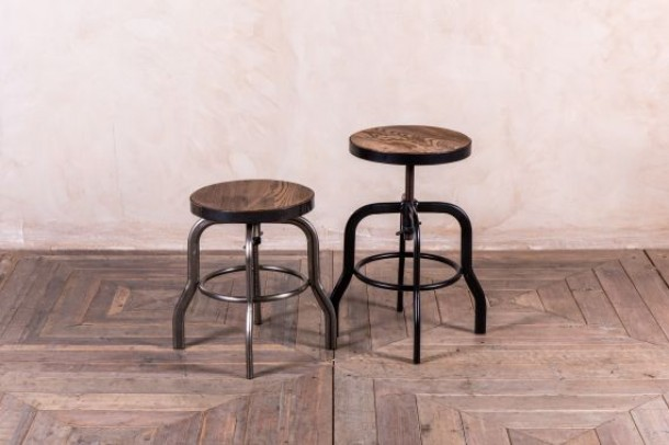 Machinist Style Low Bar Stool Range